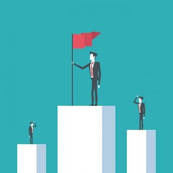 ビジネスリーダーと高い達成者