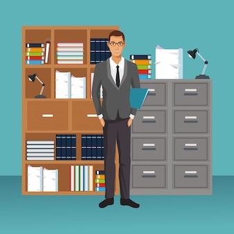 オフィスシナリオにおけるビジネスキャラクター