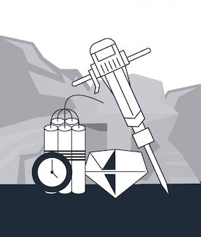 鉱業と工具