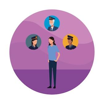 警察と人々