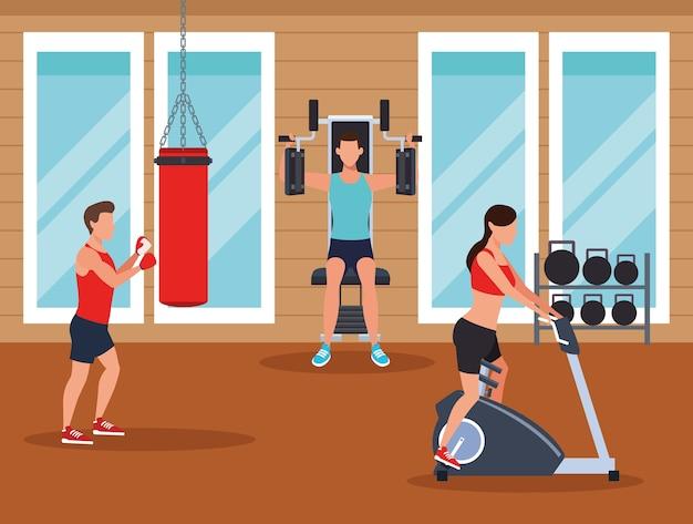 運動をしている人のフィットネス