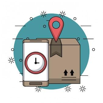 オンライン配送と物流