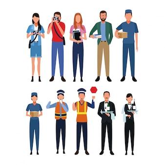 職業と職業のセット