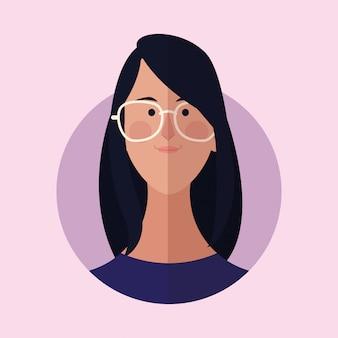 Женщина мультфильм лицо