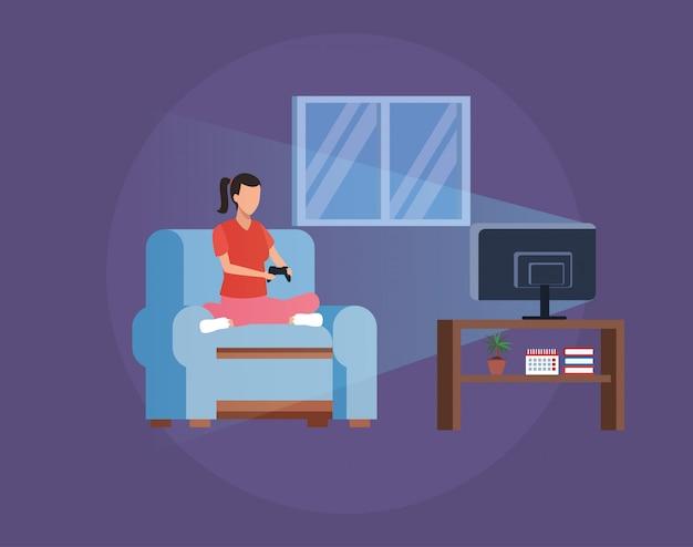 自宅での活動と自由時間