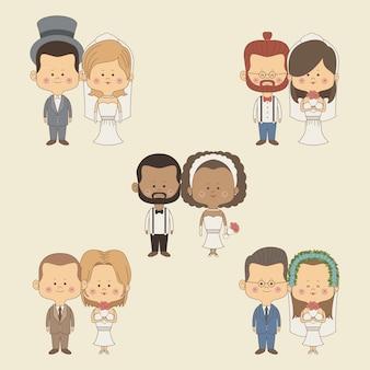 Цвет фона набор полный невесты и жениха