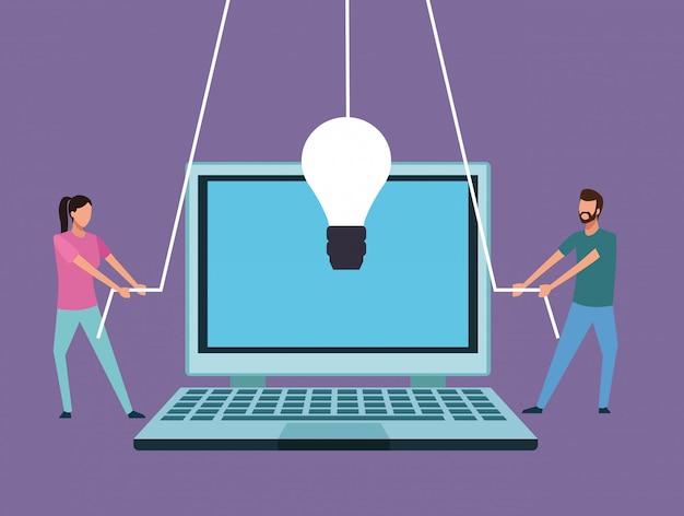 コンピュータデザインのチームワーク