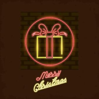 メリークリスマスカードネオンライト