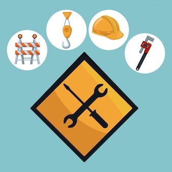 Инструменты и шуруповерт и ключ