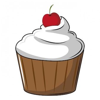 Вкусный кекс десерт