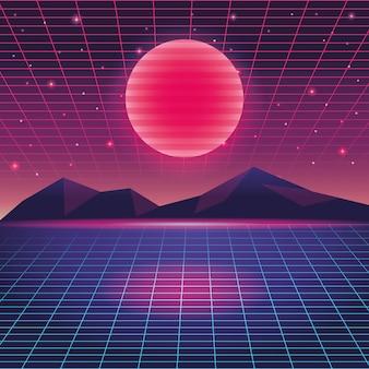 デジタル山の風景