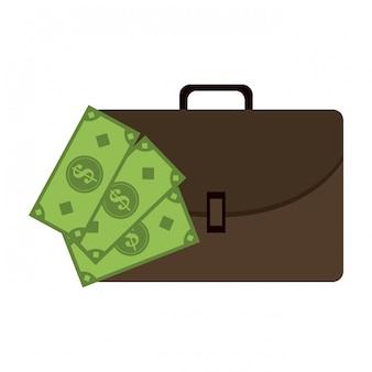 ビジネスブリーフケースと現金