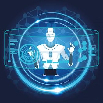 人工知能を持つロボット