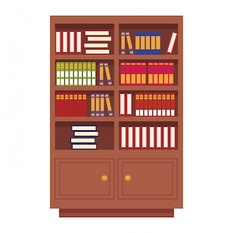 書籍付き木製図書館