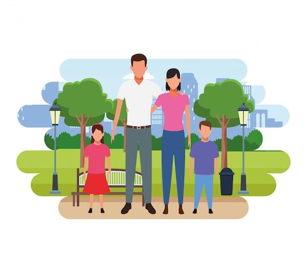 家族の人々の漫画