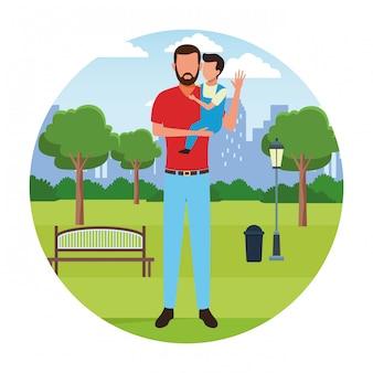 家族の漫画