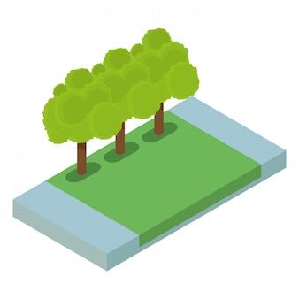 空の公園の分離