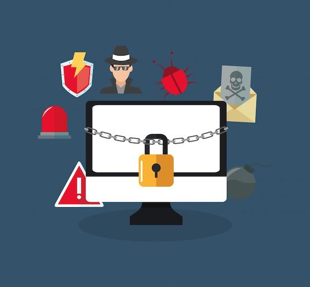 Изображение значков виртуальной системы безопасности