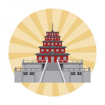 アジアの寺院の建物