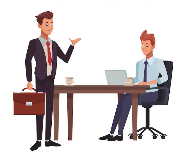 ビジネス会議の漫画
