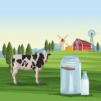 農場の牛乳ナチュラル