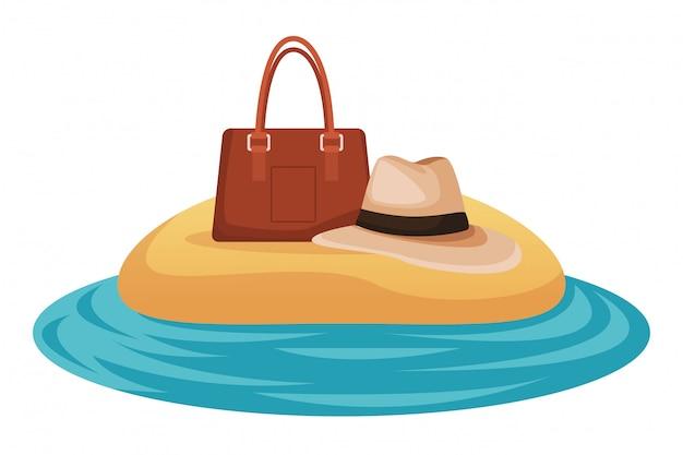 パナマ帽とバッグ
