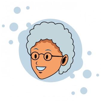 歳の女性の顔ポップアート