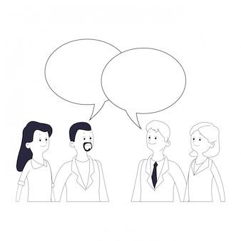友人のグループ漫画