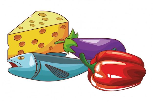 フィッシュチーズ野菜