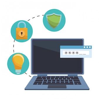 情報セキュリティ項目を持つコンピューター