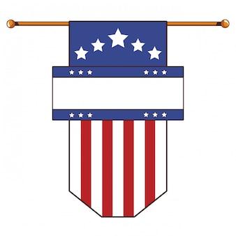 アメリカの国旗の漫画