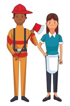 メイドと消防士