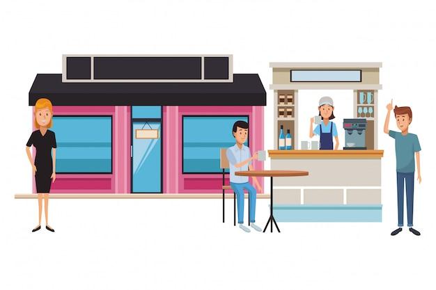 コーヒーショップの漫画