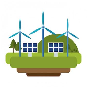 風力タービングリーンエネルギー