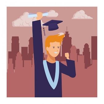 Человек выпускной диплом