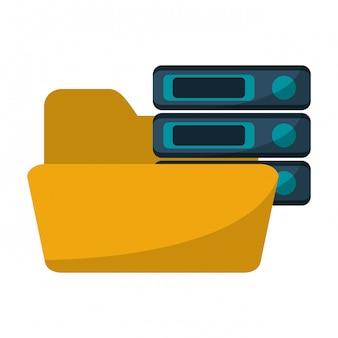 サーバーデータベースのあるフォルダー