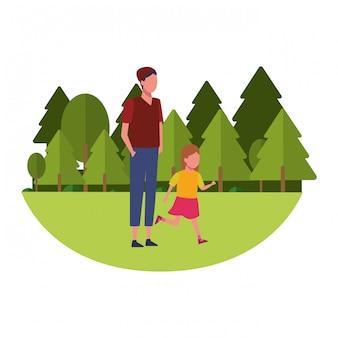 家族と子供の漫画