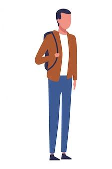 Безликий парень рюкзак