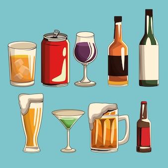 Алкогольные напитки изолированные
