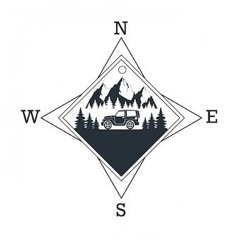 山の冒険のロゴ