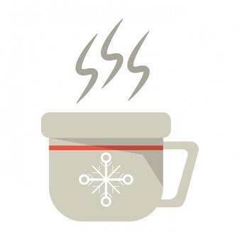 Рождественская кружка горячего кофе