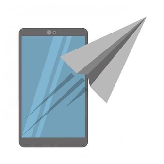 Полет смартфона и бумажного самолета