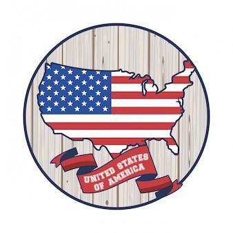 Плакат соединенных штатов америки