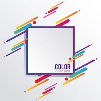 Цветная концепция фоновой рамки