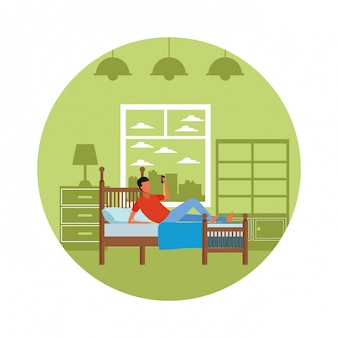 Безликая мужская спальня