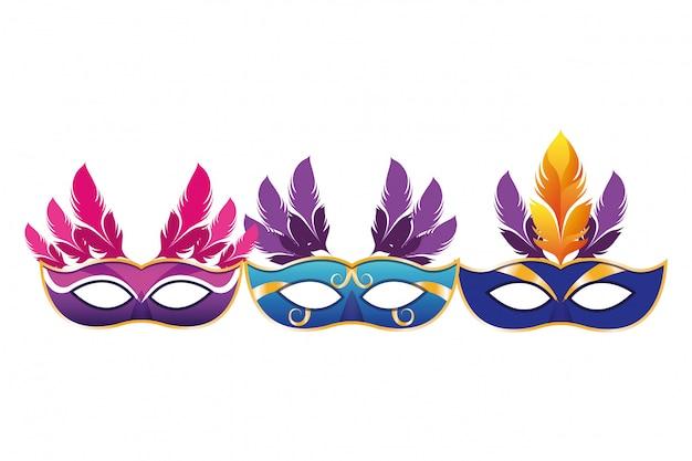 羽とマスクのセット