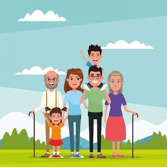 Мультфильм с семьей