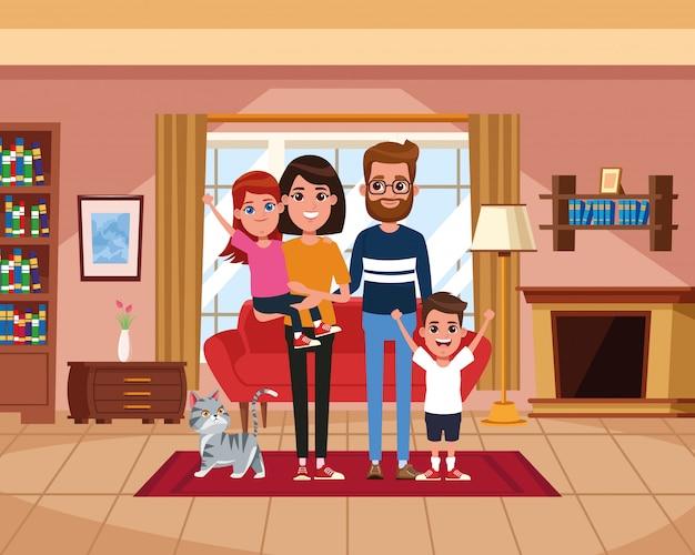 Семья в домашних мультфильмах