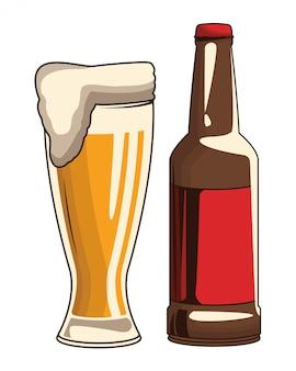 飲料ボトルとビール