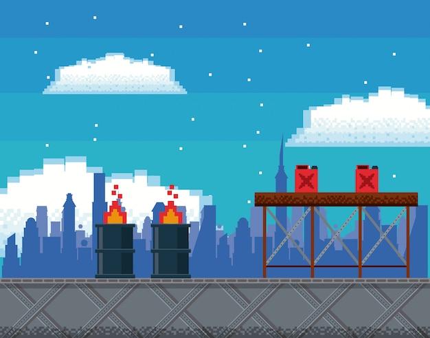 レトロなビデオゲーム画面アーケード背景カード